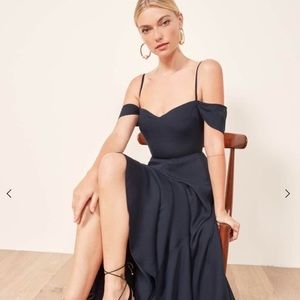 NWT REFORMATION | poppy evening gown dress blue
